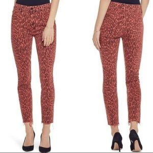 """Mother """"Looker"""" High Waist Fray Ankle Skinny Jeans"""